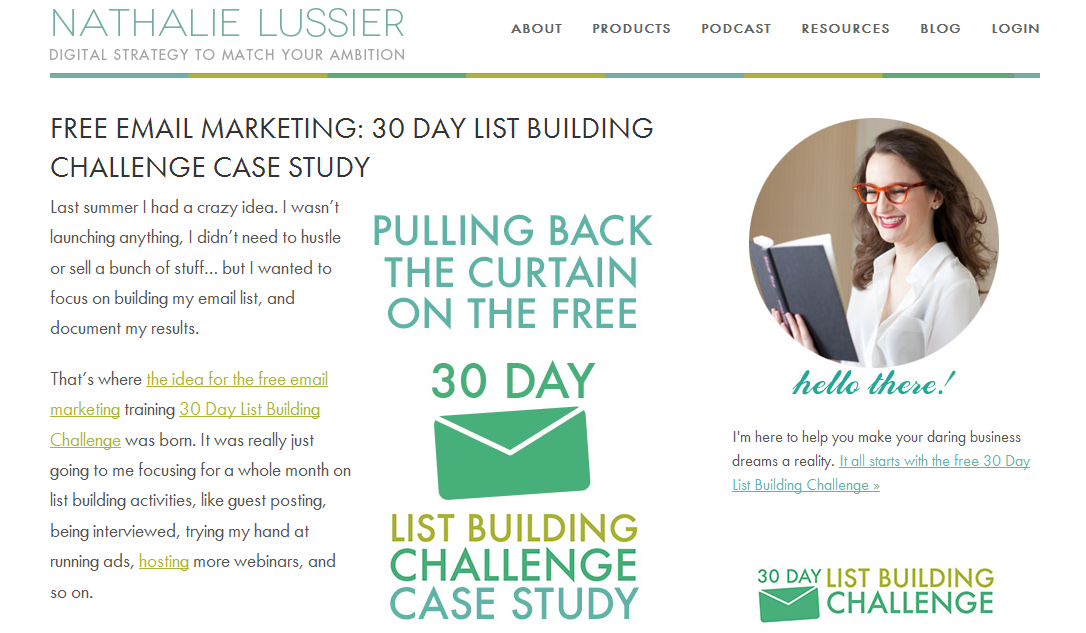 The 30 day list building challenge