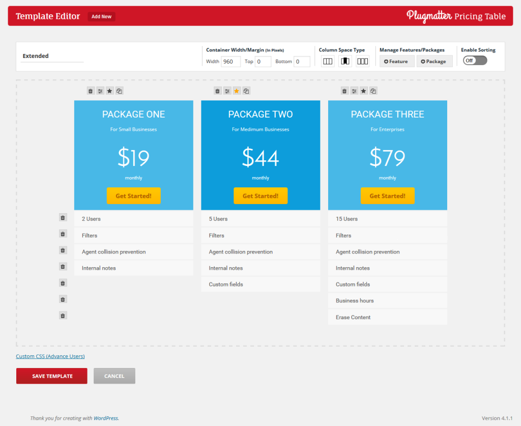 plugmatter pricing table plugin to increase pricing table conversion